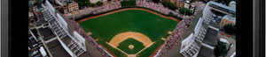 Wrigley Field aerial poster and frame