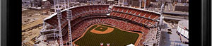 Great American Ballpark aerial poster and frame