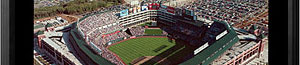 Rangers Ballpark aerial poster and frame