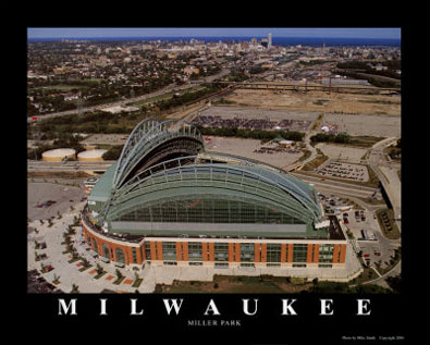 Milwaukee aerial poster