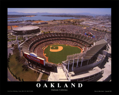 Oakland aerial poster