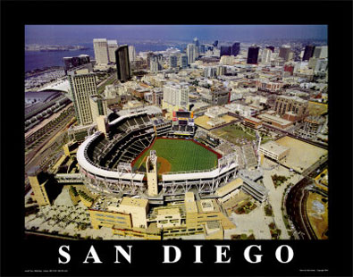San Diego aerial poster