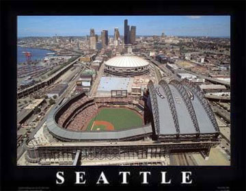 Seattle aerial poster