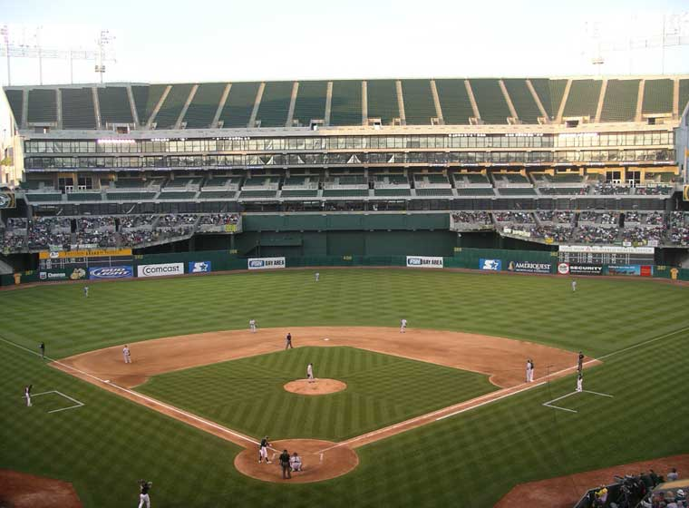 McAfee Coliseum in Oakland