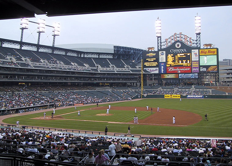 Comerica Park Facts Figures Firsts Footnotes