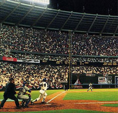 Hank Aaron Hitting #715 by Bill Purdom