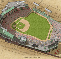 Fenway Park illustration poster
