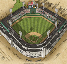 Comiskey Park illustration poster