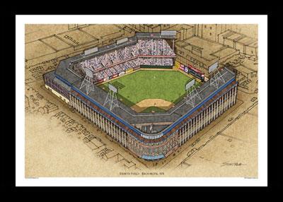 Ebbets Field Art Poster