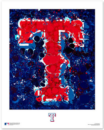 Texas Rangers Logo Art