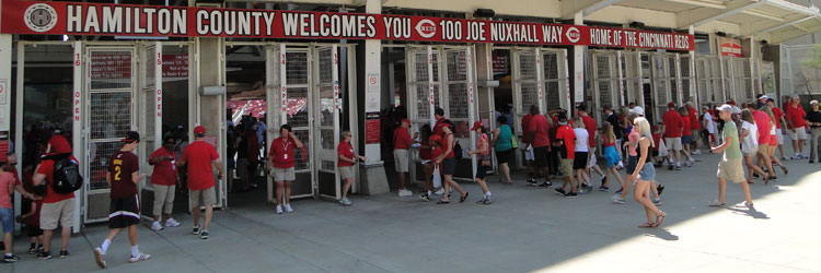Main entrance gates at Great American Ball Park