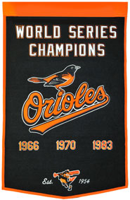 Orioles championship banner