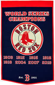 Red Sox championship banner