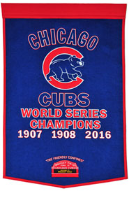 Cubs championship banner