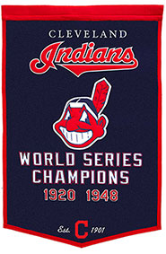 Indians championship banner