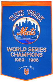 Mets championship banner