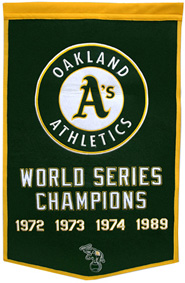 A's championship banner