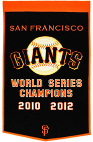Giants championship banner