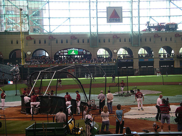 Batting Practice at Minute Maid Park in Houston