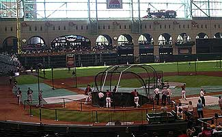 Batting Practice at Houston's Minute Maid Park