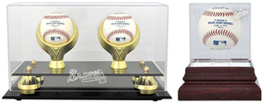 Acrylic baseball display cases