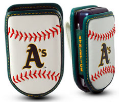 Oakland A's cell phone holder case