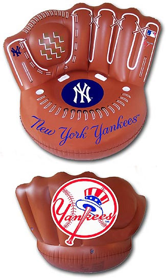 Perfect Yankees Inflatable Glove Chairs