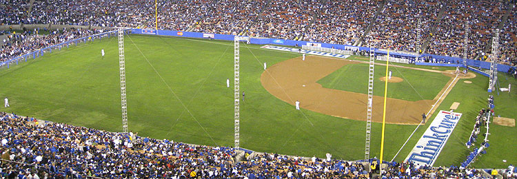A playing field and defensive alignment to remember - LA Coliseum