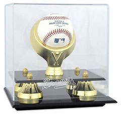 Braves baseball display cases