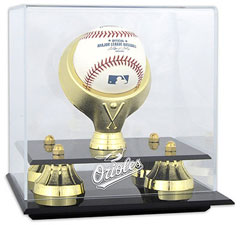 Orioles baseball display cases