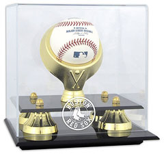 Red Sox baseball display cases