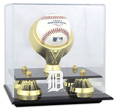 Tigers baseball display cases