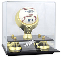 Dodgers baseball display cases