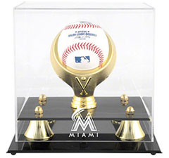 Marlins baseball display cases