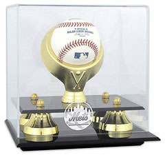 Mets baseball display cases