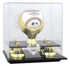 Phillies baseball display cases