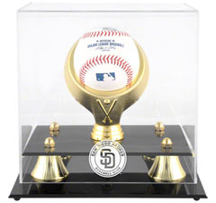 Padres baseball display cases