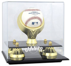 Giants baseball display cases