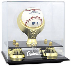 Cardinals baseball display cases
