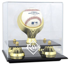 Rays baseball display cases