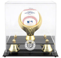 Nationals baseball display cases