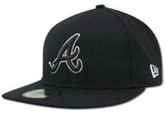 Atlanta Braves Hat Black