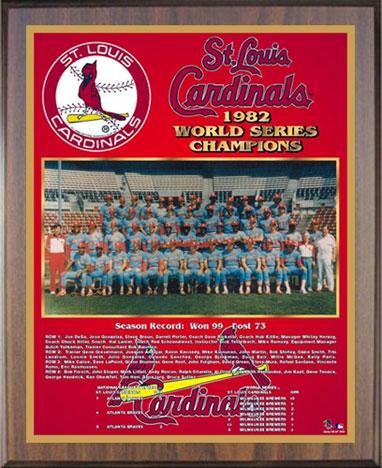 1982 St Louis Cardinals Championship Plaque