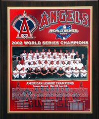 2002 Angels World Champions Healy plaque