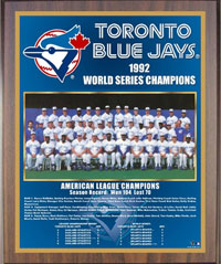1992 Blue Jays World Champions Healy plaque