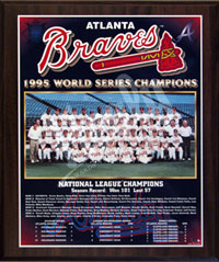 1995 Braves World Champions Healy plaque