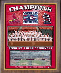 2006 Cardinals World Champions Healy plaque