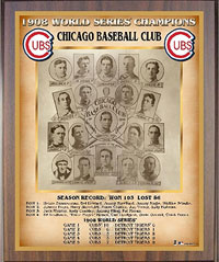 1908 Cubs World Champions Healy plaque