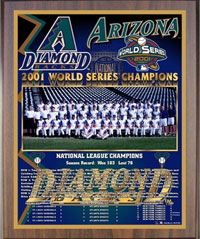 2001 Diamondbacks World Champions Healy plaque