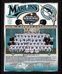 2003 Marlins World Champions Healy plaque